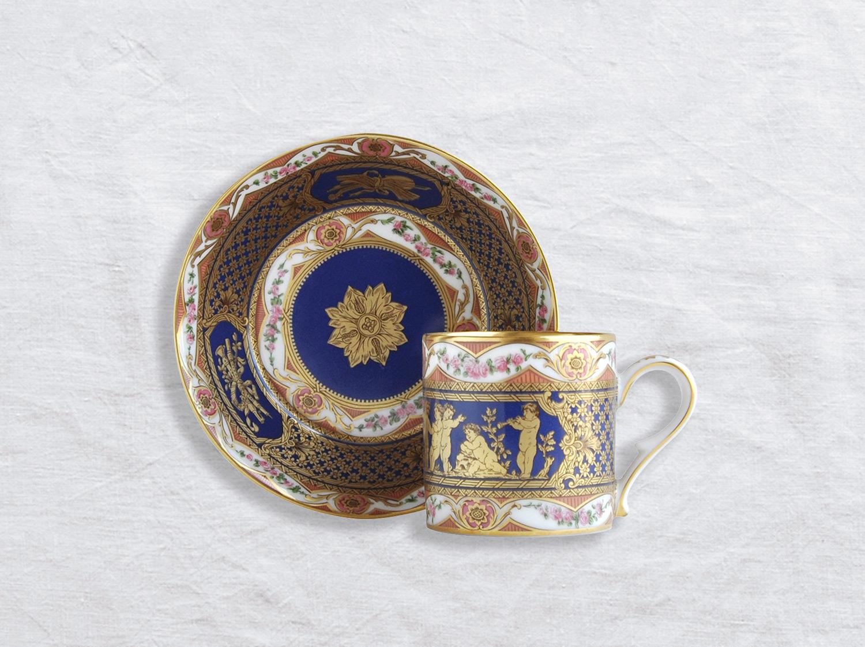 Tasse et soucoupe litron en porcelaine de la collection Ronde d enfants Bernardaud