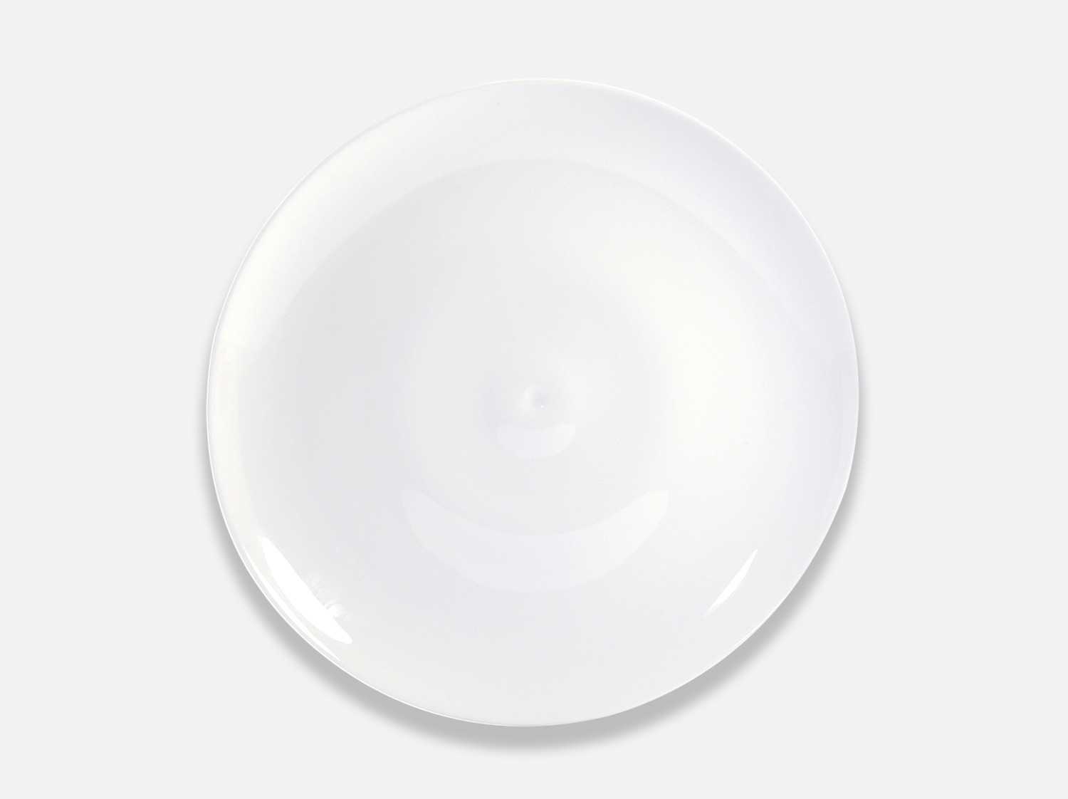 Assiette coupe 30 cm en porcelaine de la collection Bulle Bernardaud