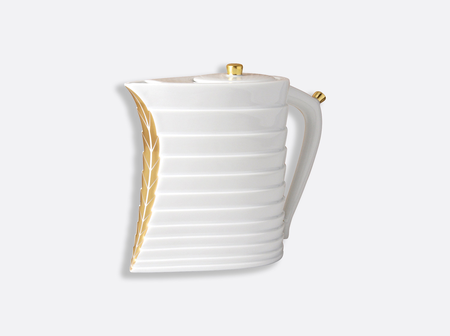 Théière 8 tasses 90 cl en porcelaine de la collection Foglia or Bernardaud