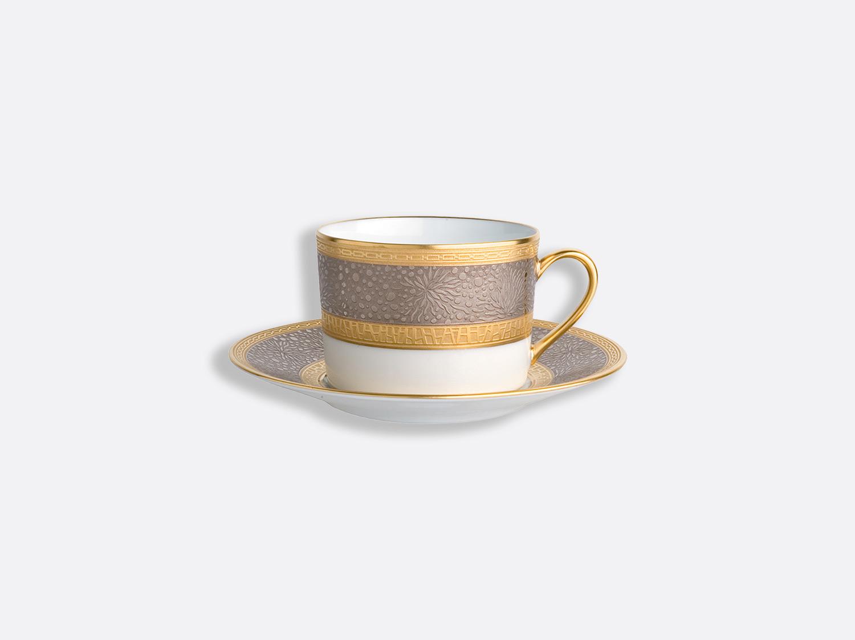 Tasse et soucoupe à thé en porcelaine de la collection Follies Bernardaud