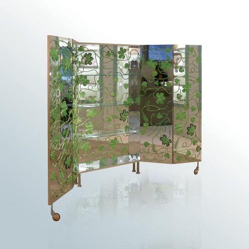Cabinet miroir 4 battants en porcelaine de la collection Treille Bernardaud