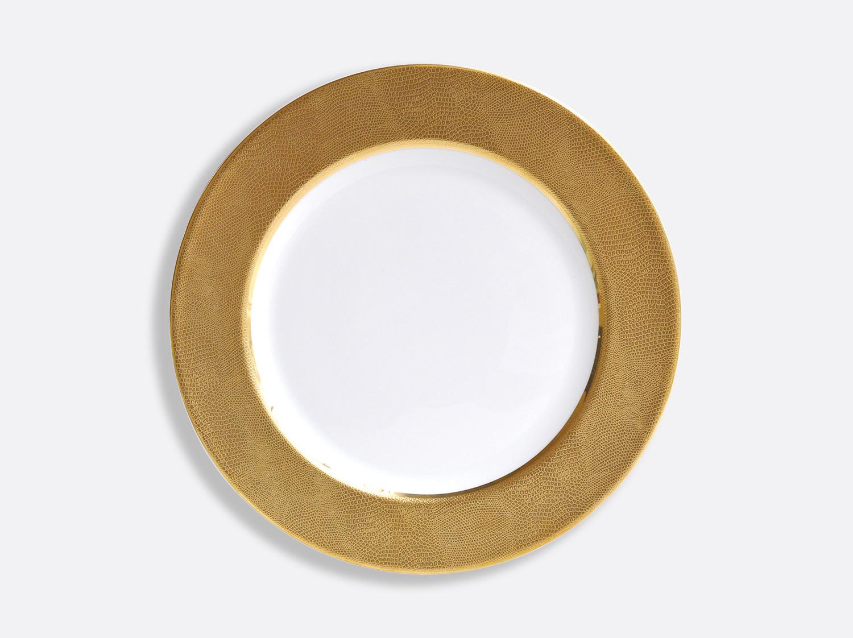 Assiette de présentation 29,5 cm en porcelaine de la collection Sauvage Or Blanc Bernardaud