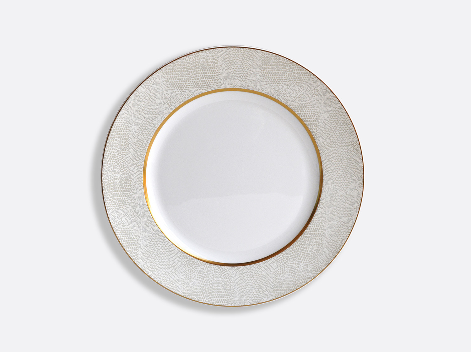 China Dinner plate 26 cm of the collection Sauvage Or Blanc | Bernardaud