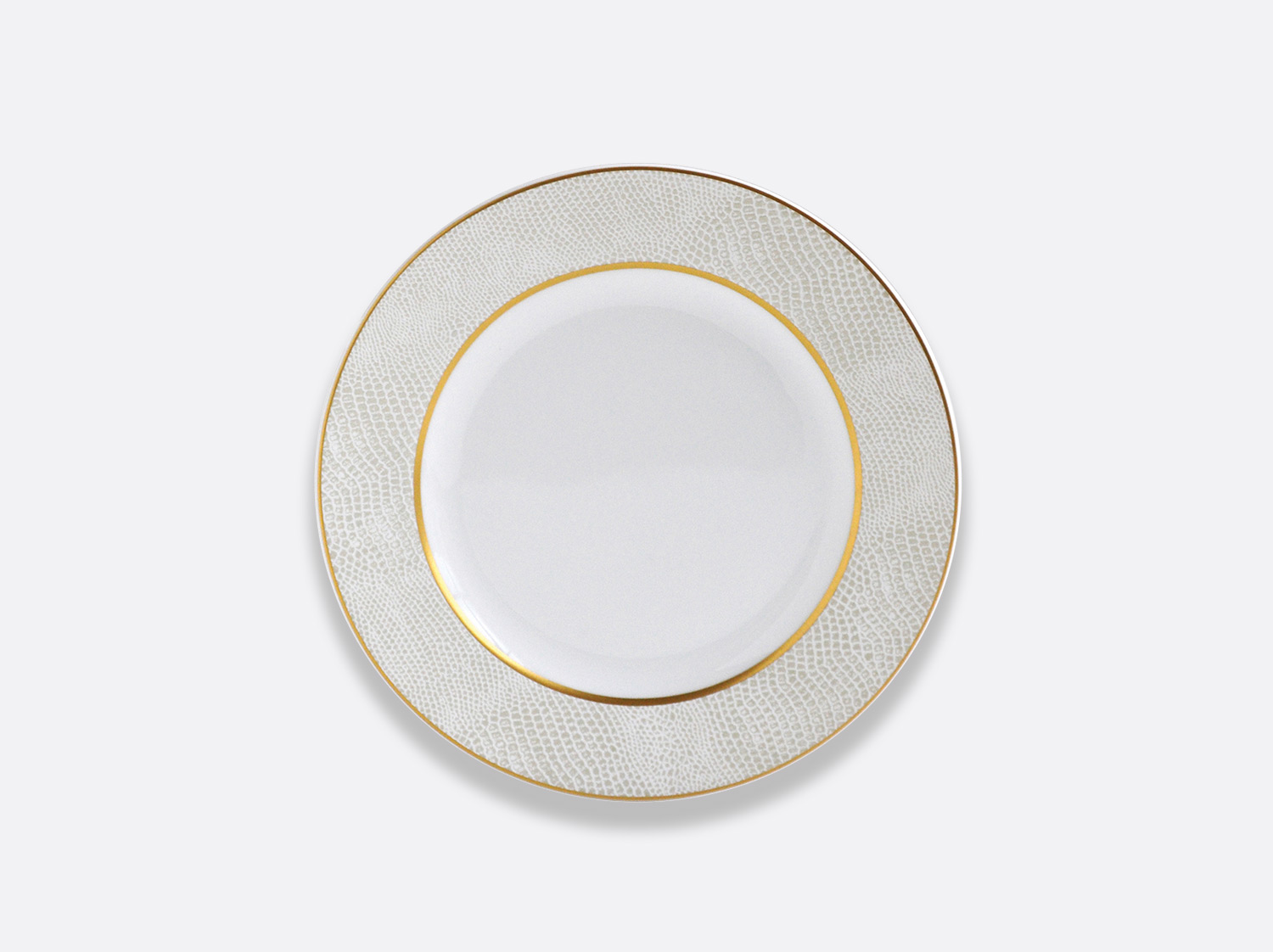 China Bread and butter plate 16 cm of the collection Sauvage Or Blanc | Bernardaud
