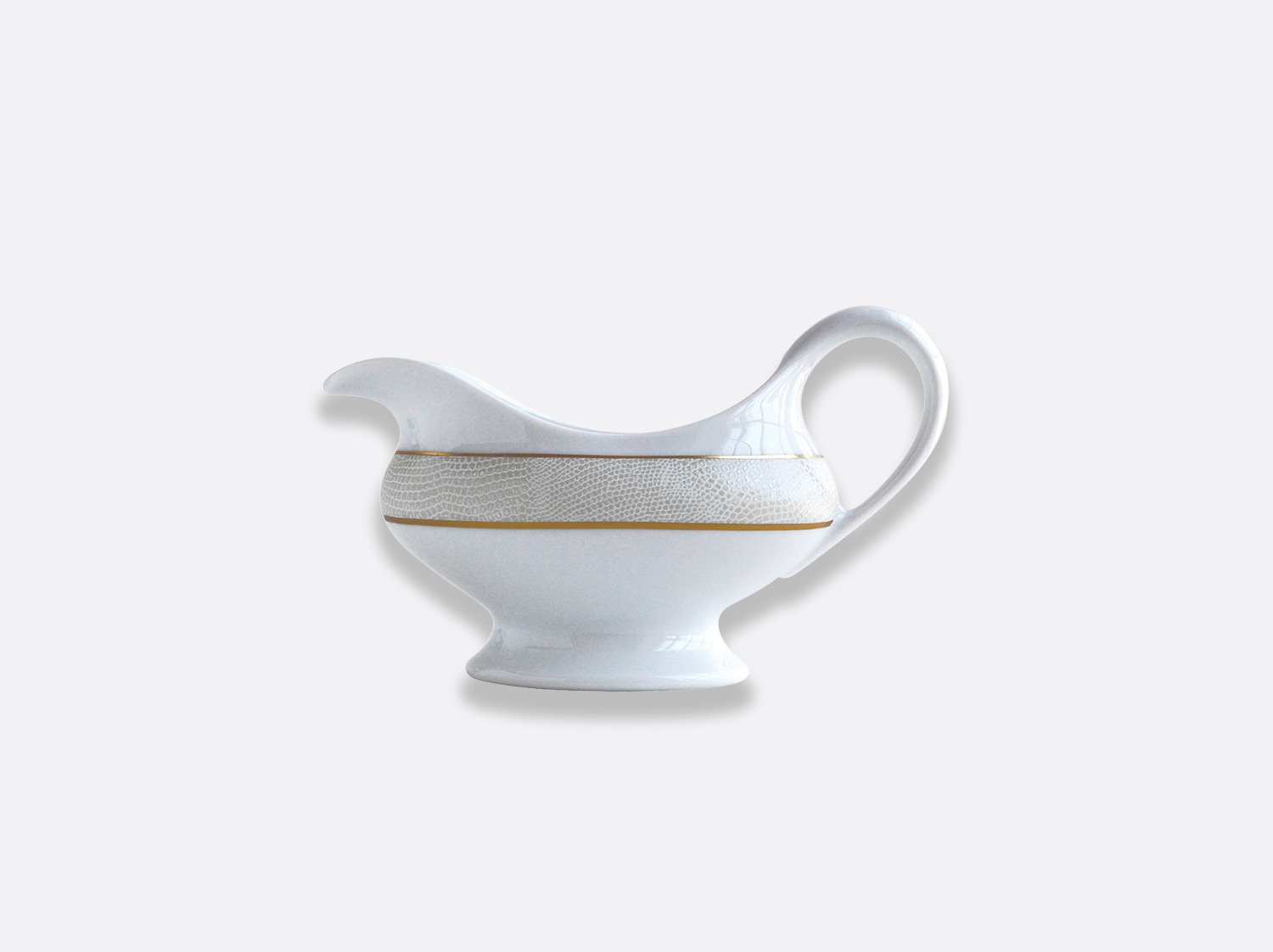 China Gravy boat of the collection Sauvage Or Blanc | Bernardaud