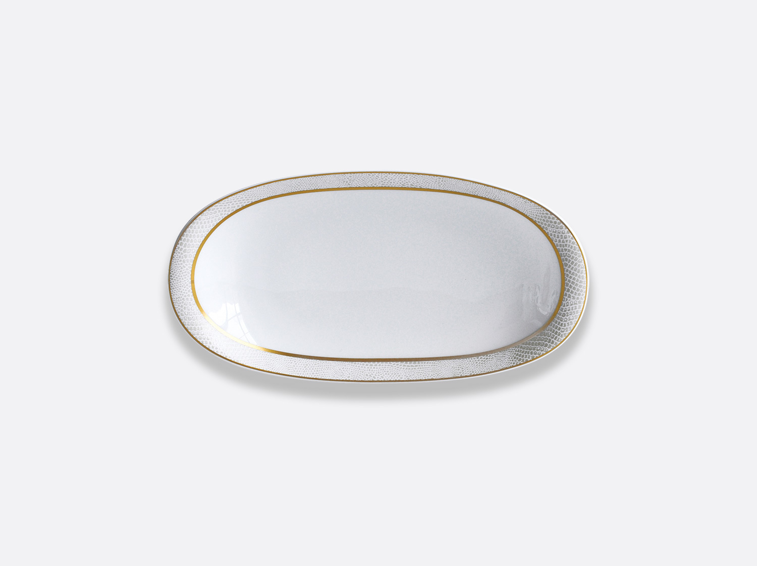China Relish dish of the collection Sauvage Or Blanc | Bernardaud