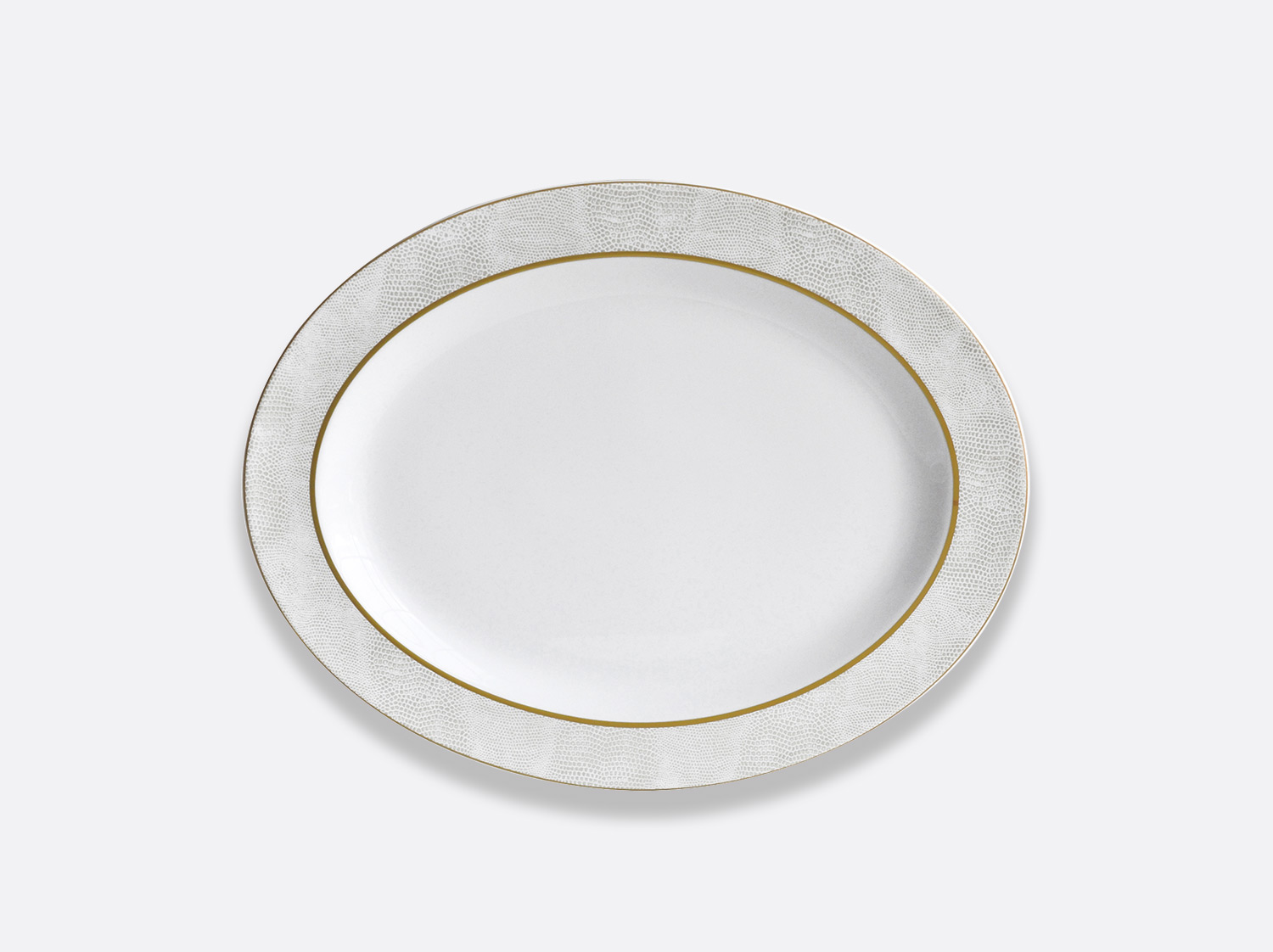 China Oval platter 33 cm of the collection Sauvage Or Blanc | Bernardaud