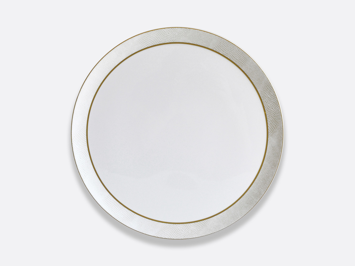 China Tart platter round of the collection Sauvage Or Blanc | Bernardaud