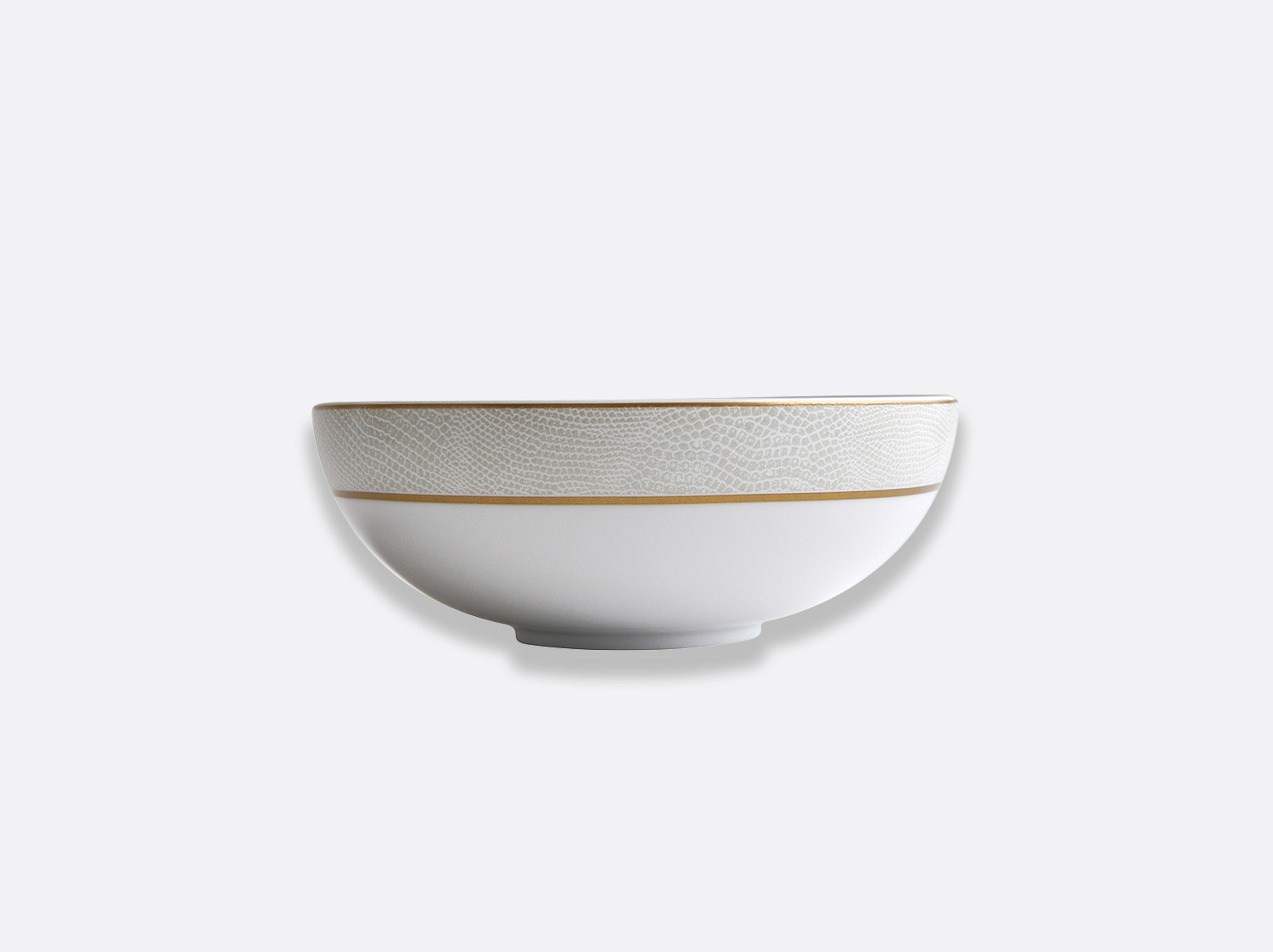 Bol D.17 cm H. 7 cm en porcelaine de la collection Sauvage Or Blanc Bernardaud