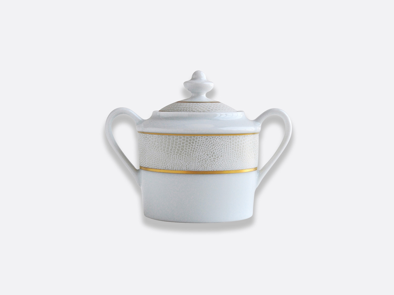 China Sugar bowl 6 cups of the collection Sauvage Or Blanc | Bernardaud