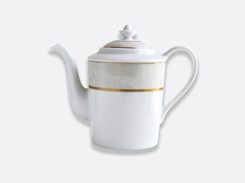 Cafetière 12 tasses 1 L en porcelaine de la collection Sauvage Or Blanc Bernardaud
