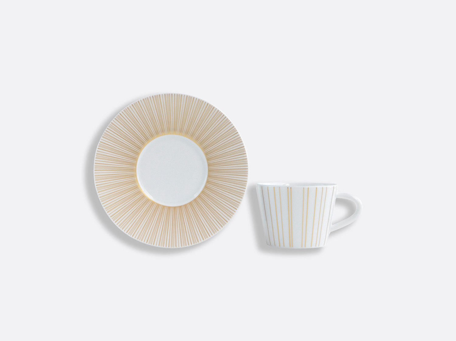 Tasse et soucoupe à café 6 cl en porcelaine de la collection Sol Bernardaud