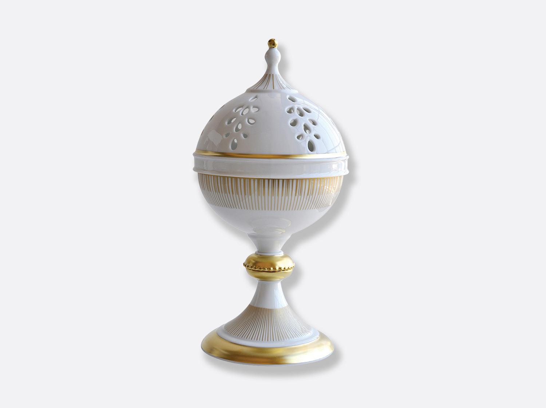 Brûle parfum H. 31 cm D. 16 cm en porcelaine de la collection Sol Bernardaud