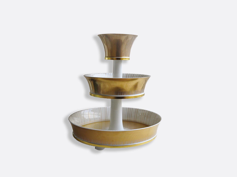 Serviteur 3 niveaux en porcelaine de la collection Sol Bernardaud