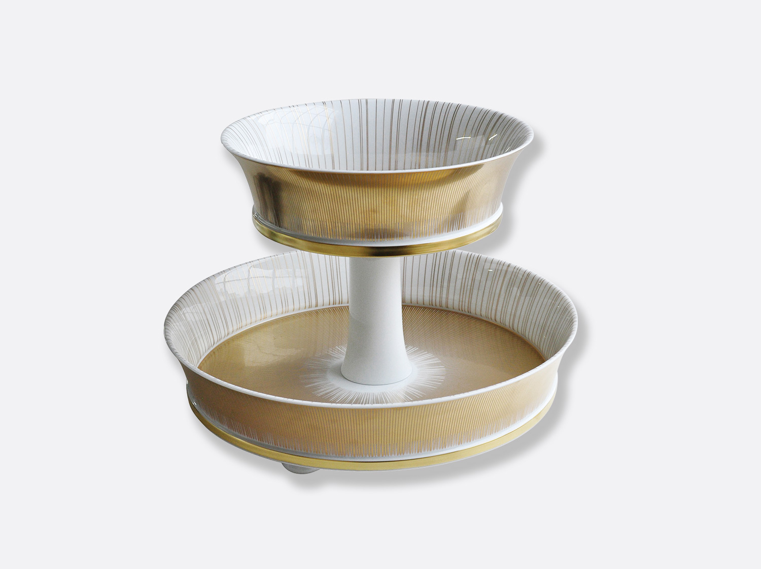 China 2 tier tray of the collection Sol | Bernardaud