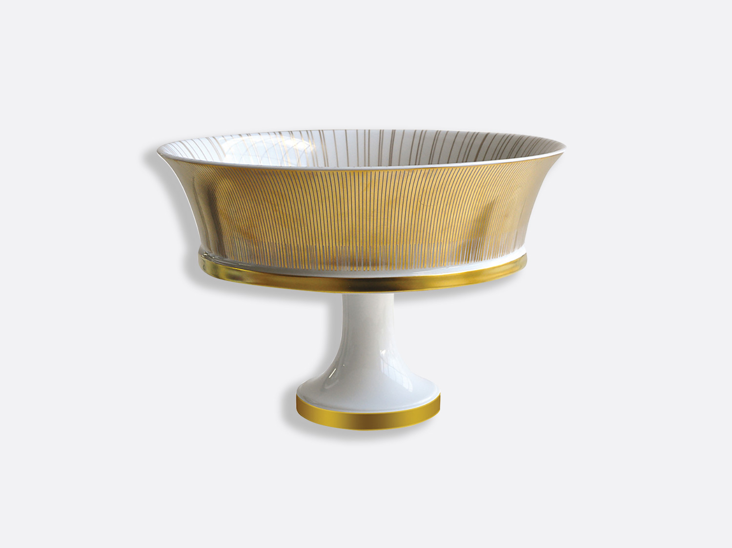 Coupe moyenne sur pied H. 27,5 cm en porcelaine de la collection Sol Bernardaud