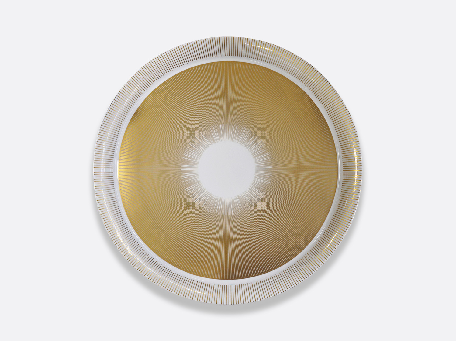 Plateau rond 48 cm en porcelaine de la collection Sol Bernardaud