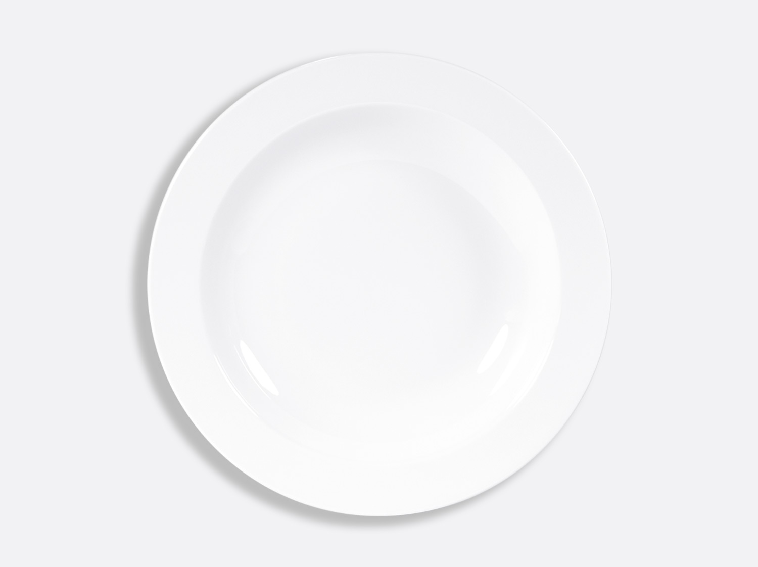 Plat rond creux 29,5 cm en porcelaine de la collection DOMUS BLANC Bernardaud