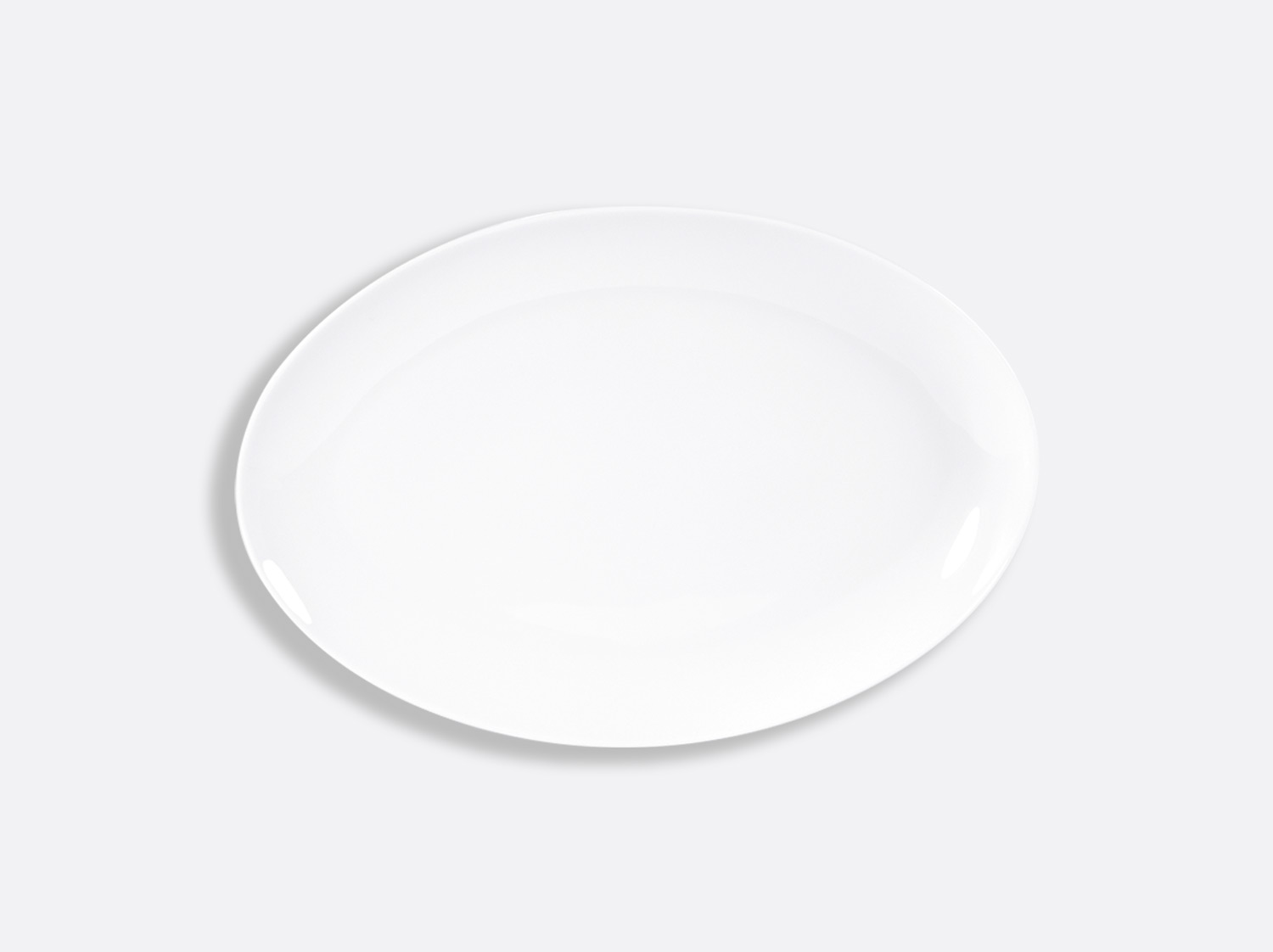 China Oval platter 33 cm of the collection Domus blanc | Bernardaud