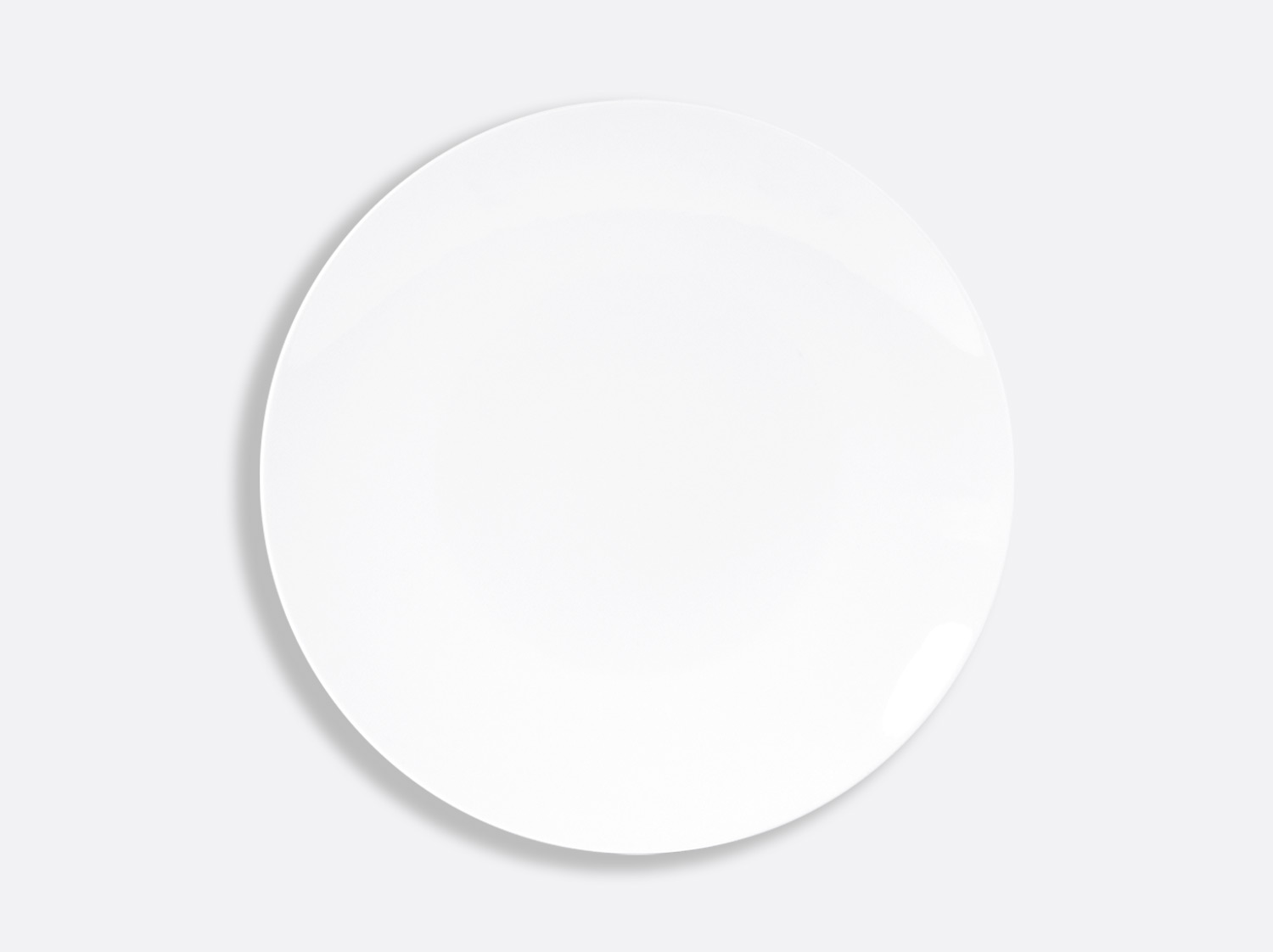 Assiette coupe 27 cm en porcelaine de la collection DOMUS BLANC Bernardaud