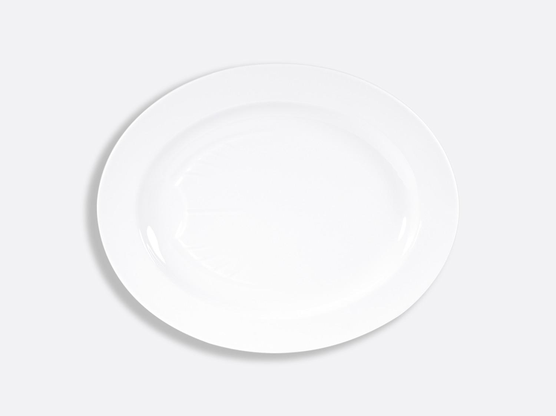 China Oval platter 43 cm of the collection Blanc | Bernardaud