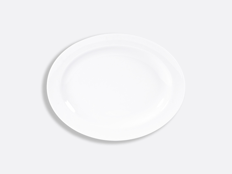 China Oval platter 28 cm of the collection Blanc | Bernardaud