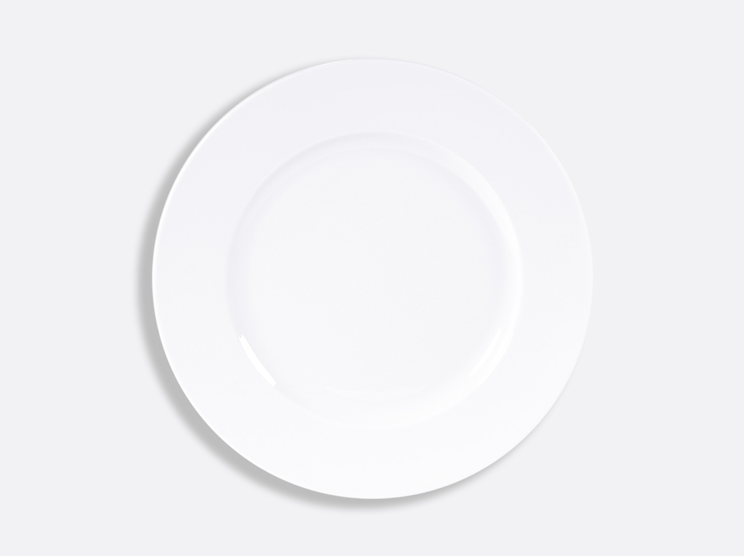 Assiette plate 26 cm en porcelaine de la collection PHOEBE BLANC Bernardaud