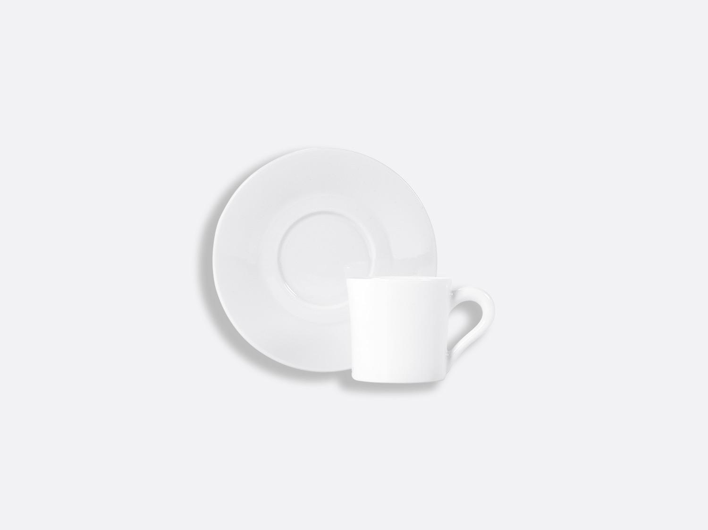 Soucoupe café Galerie en porcelaine de la collection PHOEBE BLANC Bernardaud