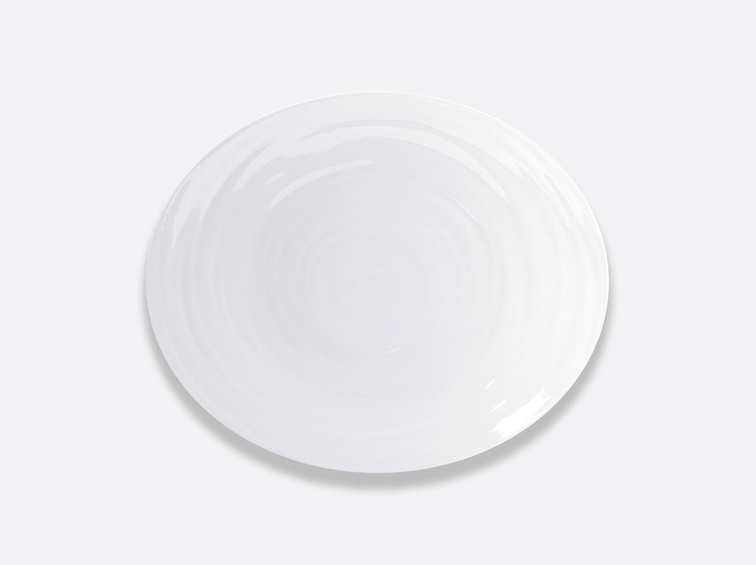 Assiette ovale 33 cm en porcelaine de la collection Origine Bernardaud