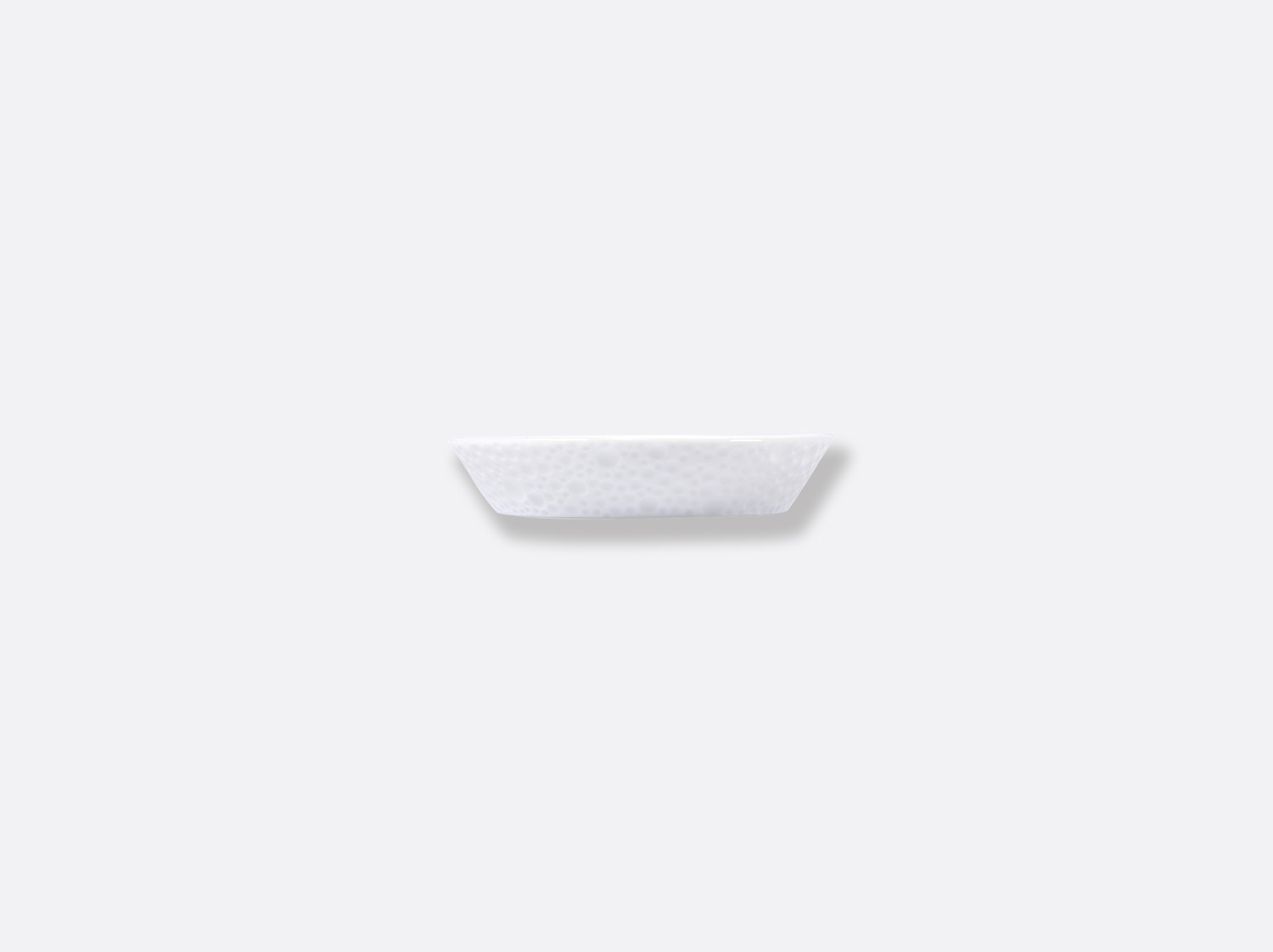China バターディッシュ 8 cm of the collection ECUME BLANC AILE MAT | Bernardaud