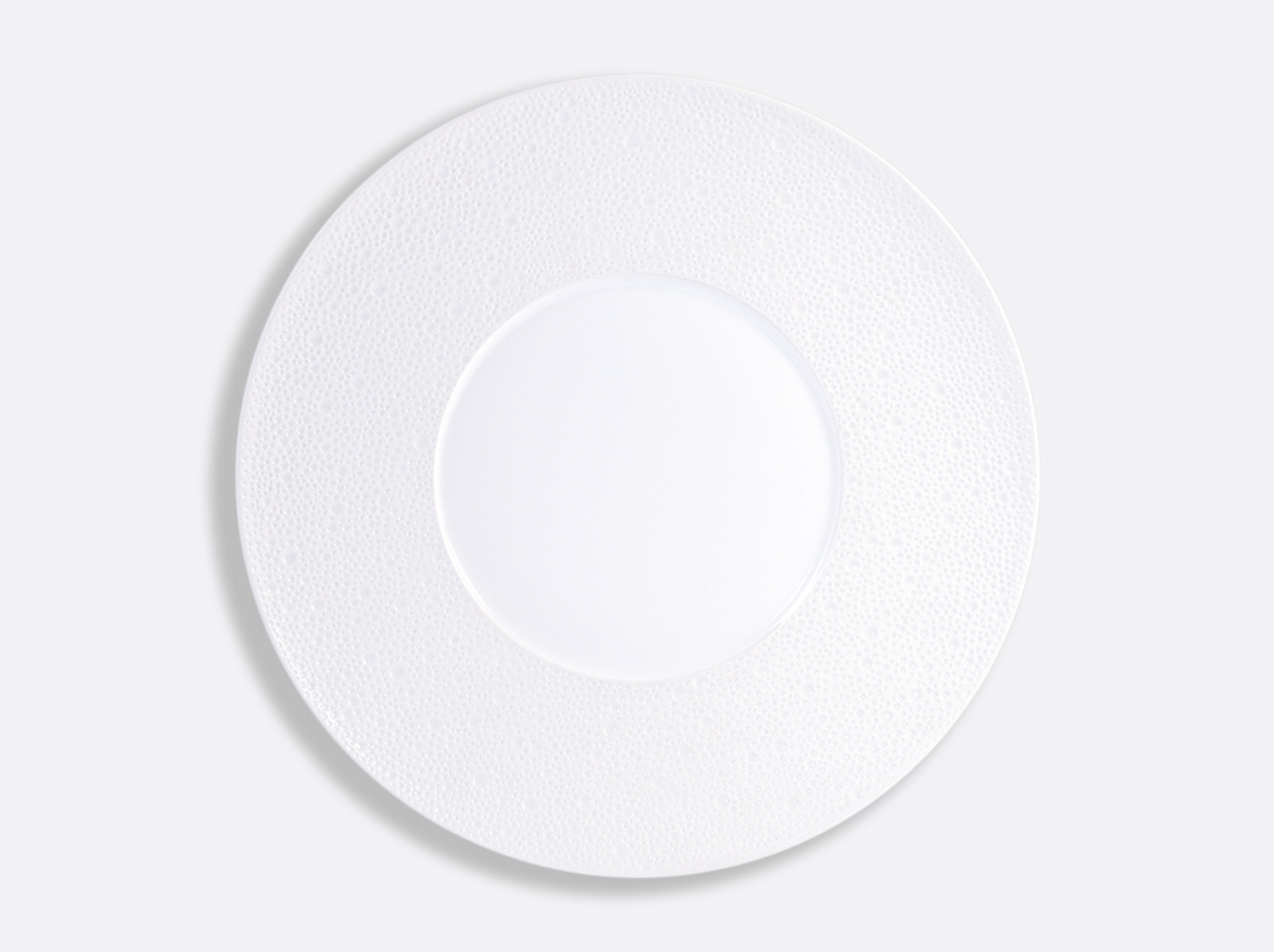China Shogun plate 31.5 cm of the collection Ecume blanc aile mat | Bernardaud