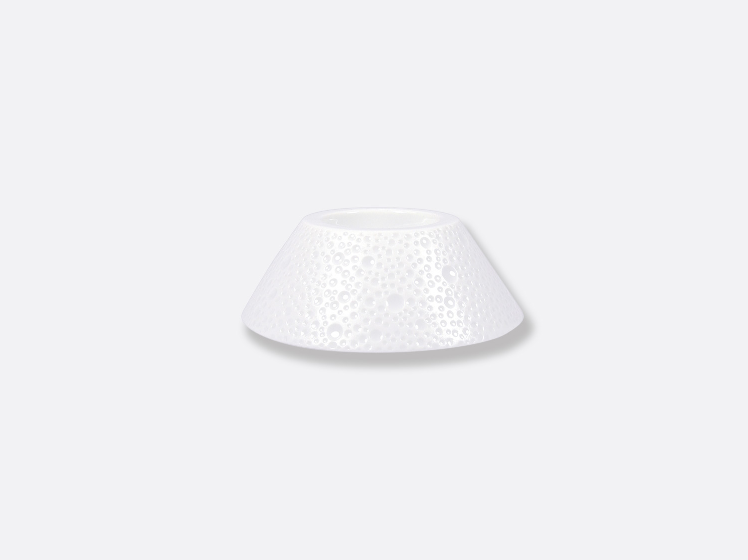 Coquetier 10,5 cm en porcelaine de la collection ECUME BLANC Bernardaud