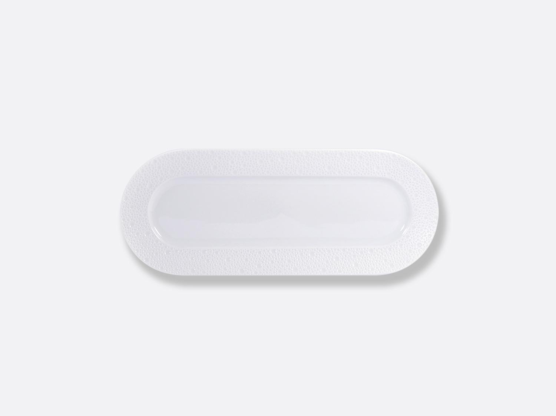 Plat oblong 32 x 12,5 cm en porcelaine de la collection ECUME BLANC Bernardaud