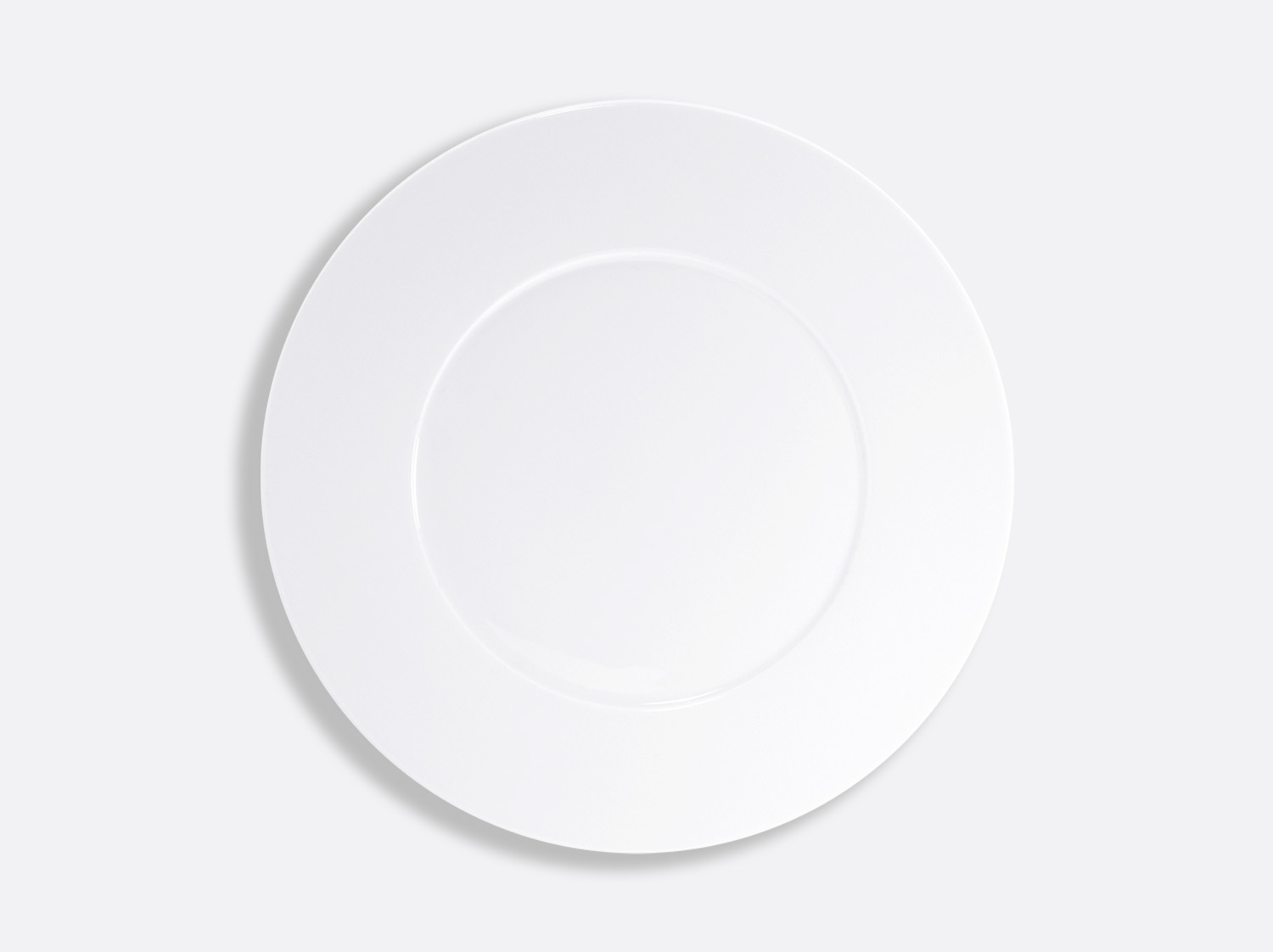 Assiette plate 27 cm en porcelaine de la collection ASTRE BLANC Bernardaud