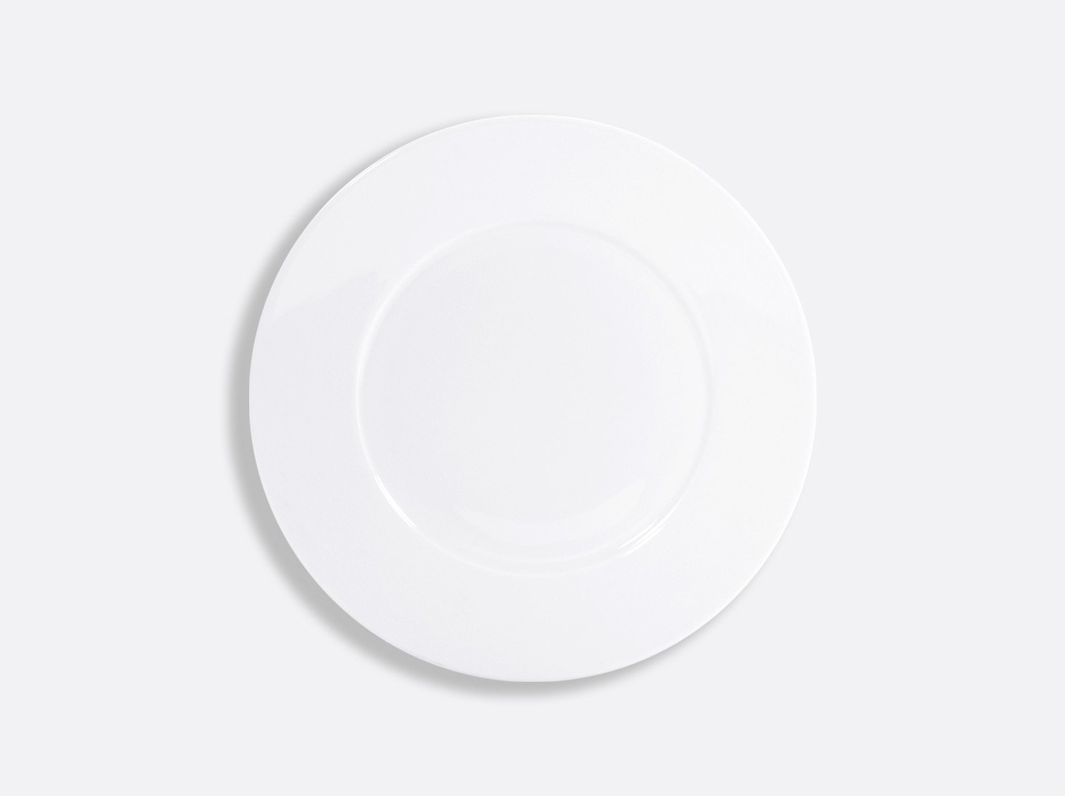 Assiette plate 21 cm en porcelaine de la collection ASTRE BLANC Bernardaud
