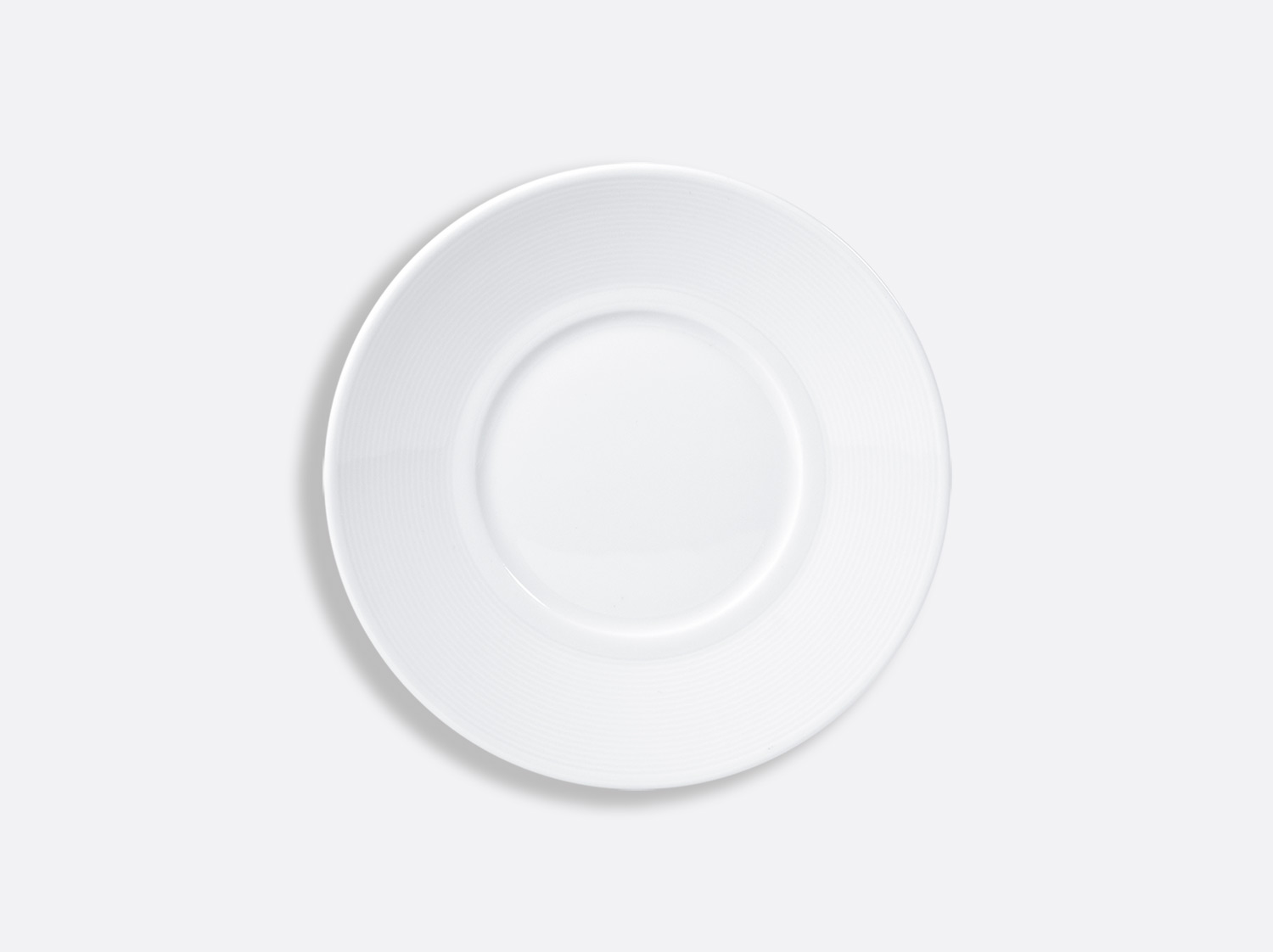 Assiette plate 16 cm en porcelaine de la collection ATLANTIDE BLANC Bernardaud