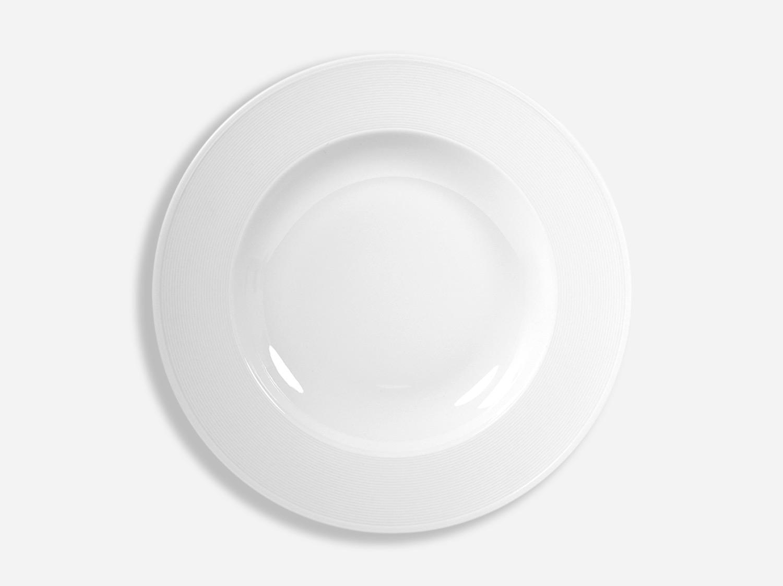 Assiette creuse à aile 29,5 cm en porcelaine de la collection ATLANTIDE BLANC Bernardaud