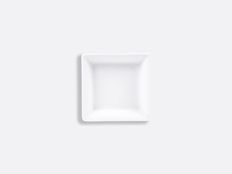 Cendrier carré 8 x 8 cm en porcelaine de la collection FANTAISIES BLANCHES Bernardaud