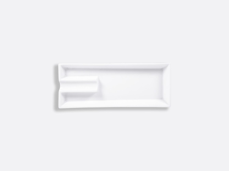 Cendrier 1 cigare 21 x 8,5 cm en porcelaine de la collection FANTAISIES BLANCHES Bernardaud