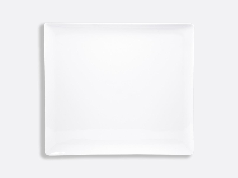 Plateau rectangulaire 26,5 x 23,5 cm en porcelaine de la collection FANTAISIES BLANCHES Bernardaud