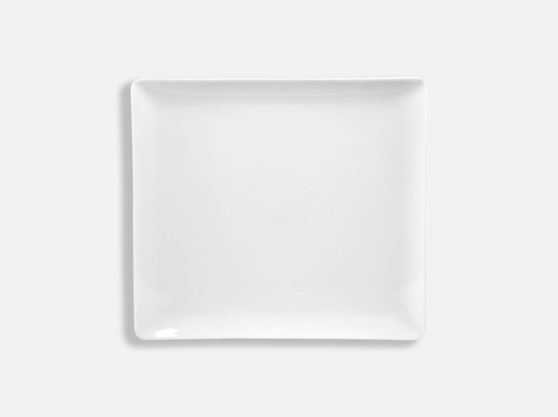 Plateau rectangulaire 22 x 19,5 cm en porcelaine de la collection FANTAISIES BLANCHES Bernardaud