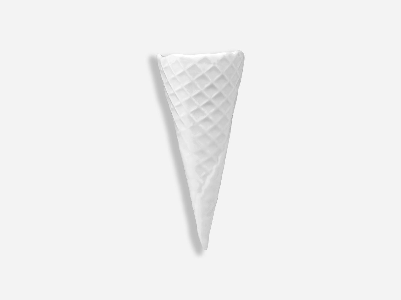 Cône à glace 14,5 cm en porcelaine de la collection FANTAISIES BLANCHES Bernardaud