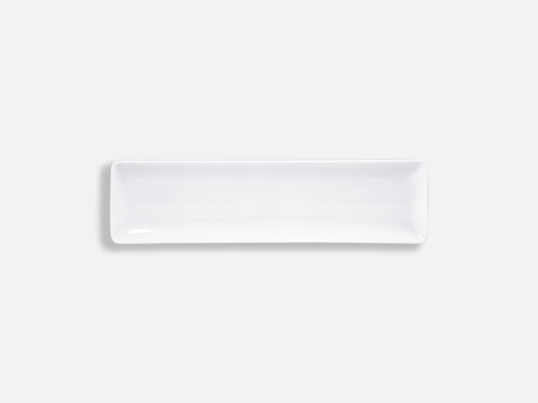 Plateau rectangulaire 26 x 7 cm en porcelaine de la collection FANTAISIES BLANCHES Bernardaud