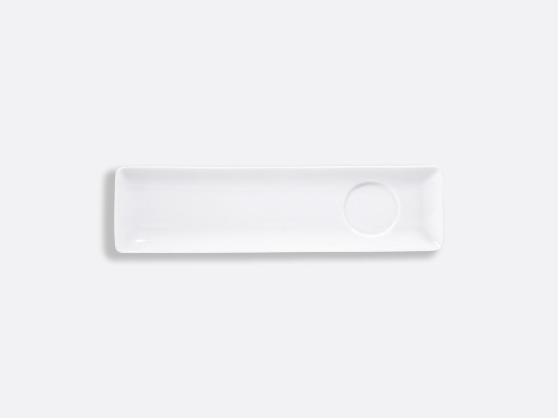 Plateau rectangulaire avec empreinte 26 x 7 cm en porcelaine de la collection FANTAISIES BLANCHES Bernardaud
