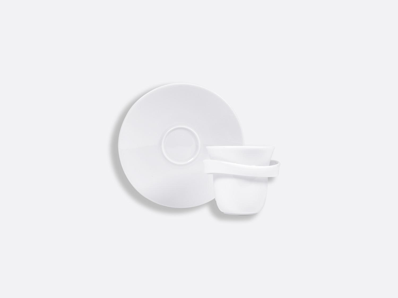 Tasse et soucoupe expresso Anno 5 cl en porcelaine de la collection FANTAISIES BLANCHES Bernardaud