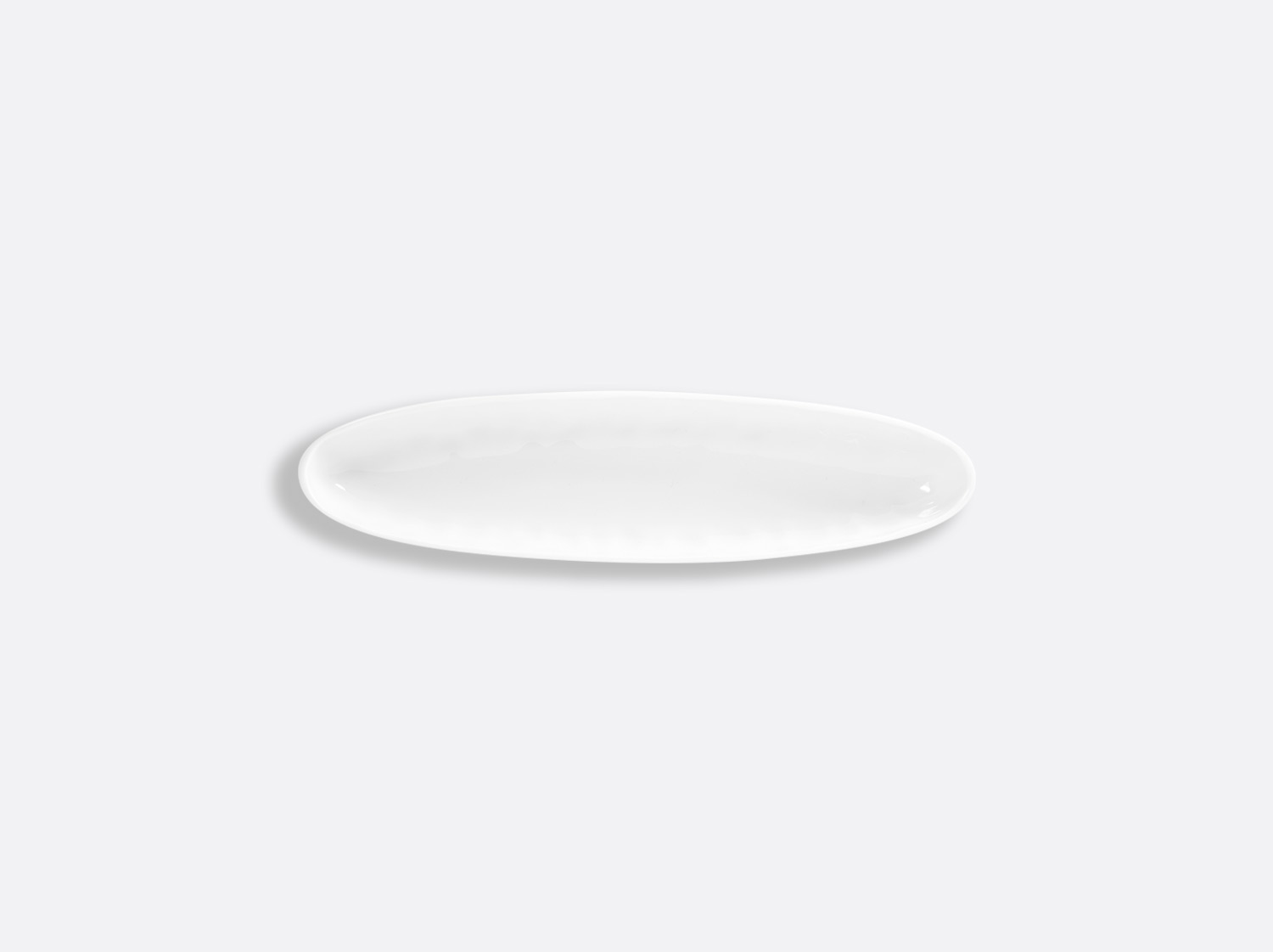 Coupelle ovale creuse 21,5 x 5 cm en porcelaine de la collection EMPREINTE Bernardaud