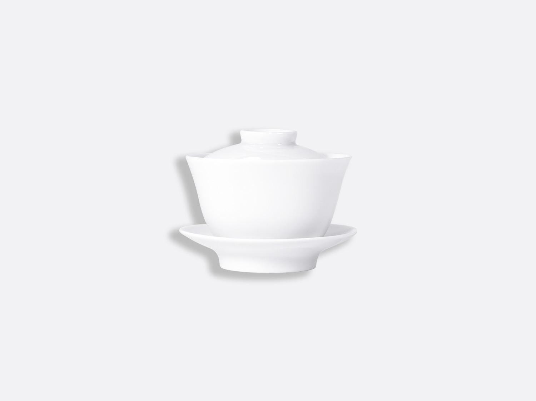 Tasse couverte 20 cl en porcelaine de la collection JI QING BLANC Bernardaud