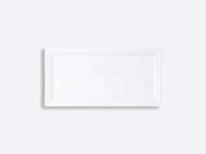 China Rectangular plate 24 x 12 cm of the collection Fusion blanc | Bernardaud