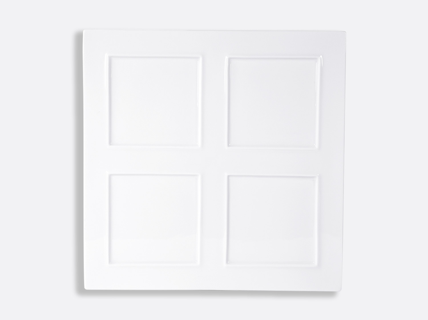 """China Tonga square """"picture"""" plate 30.5 x 30.5 cm of the collection Fusion blanc   Bernardaud"""
