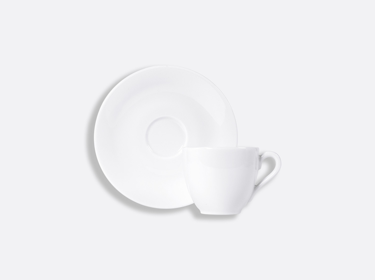 China Coffee cup and saucer 10 cl of the collection Provence blanc | Bernardaud